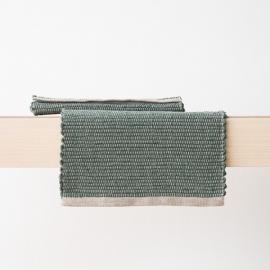 Mantelas de Individual Tejido a Mano de Lino Balsam Green Lara