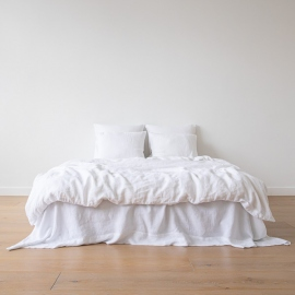 Conjunto de Cama de Lino Optical White Stone Washed