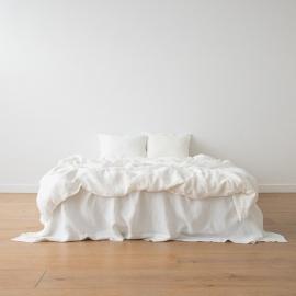 Off White Conjunto de Cama de Lino Stone Washed
