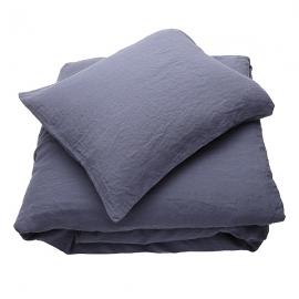 Blueberry Conjunto de Cama de Lino Stone Washed