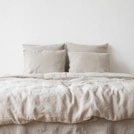 Natural Conjunto de Cama de Lino Stone Washed