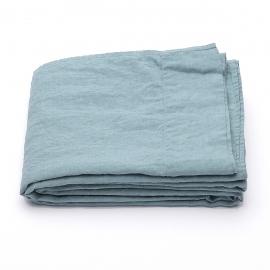 Sábana Bajera Ajustada de Lino Stone Blue Stone Washed