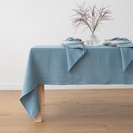 Mantel de Lino Stone Blue Lara