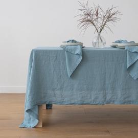 Mantel de Lino Stone Blue Stone Washed