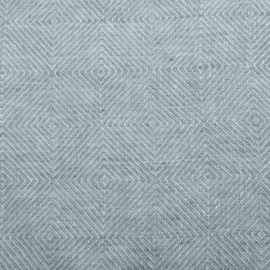 Stone Blue Stone washed Rhomb Bed Linen Fabric