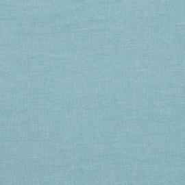 Stone Blue Linen Fabric Sample Stone Washed