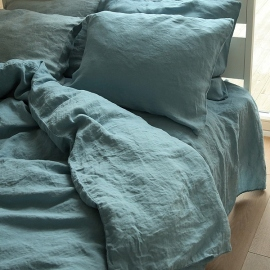 Stone Blue Conjunto de Cama de Lino Stone Washed