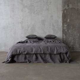 Edredon de Lino Steel Gris Stone Washed