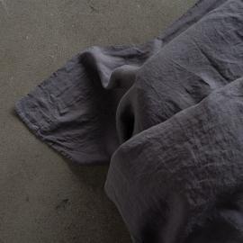 Sábana Bajera Ajustada de Lino Steel Grey Stone Washed