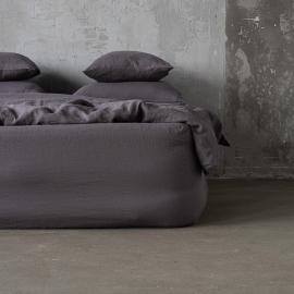Steel Gris Sábana Encimera de Lino Stone Washed