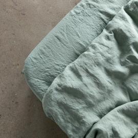 Spa Green Sábana Encimera de Lino Stone Washed