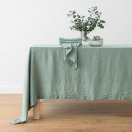 Mantel de Lino Spa Green Stone Washed