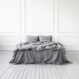 Silver Bed Linen Fabric
