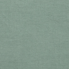 Spa green Washed Bed Linen Fabric Prewashed