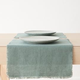 Mantel de Lino Spa Verde Rustic