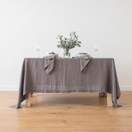 Mantel de Lino Steel Grey Stone Washed