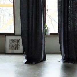Cortina con Plisado Tipo Lápiz de Lino Grey Lara