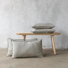 Taupe Funda de Cojin de Lino Stone Washed
