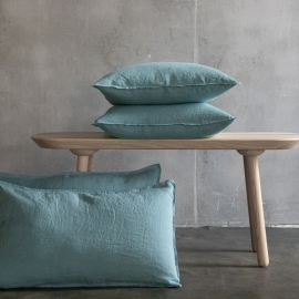 Funda de Cojin de Lino Stone Blue Stone Washed