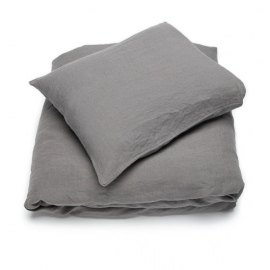 Conjunto de Cama de Lino Spa Grey Stone Washed