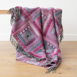 Purple Merino Wool Throw Marta