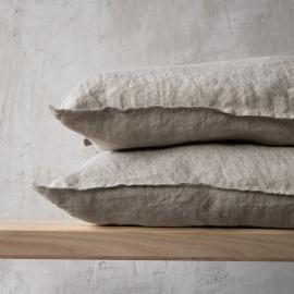 Funda de Cojin de Lino Natural Stone Washed