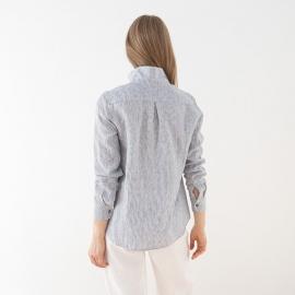 Camisa de Rallas azul Marina de Lino
