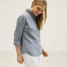 Blue Melange Camisa de Lino Ernesto