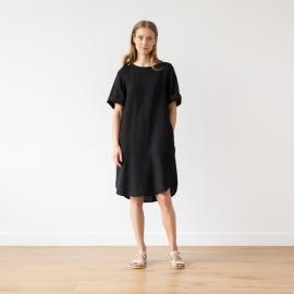 Negro Vestido de Lino Luisa