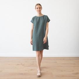 Vestido de Lino Balsam Green Alice