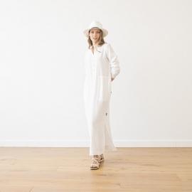 Vestido de Lino White Dona