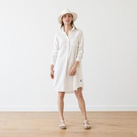 Vestido Camisiero de Lino White Camilla