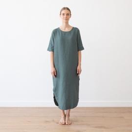 Vestido de Lino Balsam Green Nora