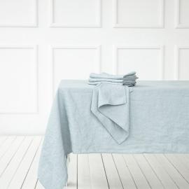 Mantel de lino azul hielo Terra