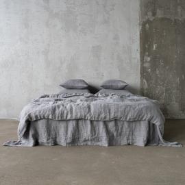 Gris Edredon de Lino Stone Washed Herringbone