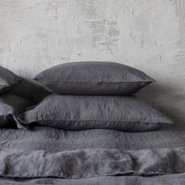 Gris Funda de Almohada de Lino Stone Washed