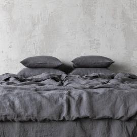 Gris Edredon de Lino Stone Washed