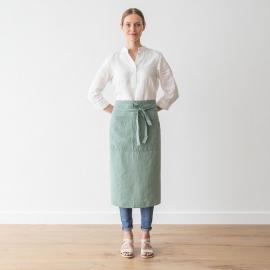 Delantal del Chef, fabricado en Lino, Spa Verde, Stone washed