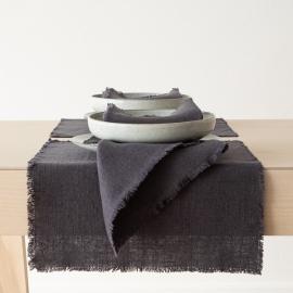 Mantel Individual de Lino Gris Rustic