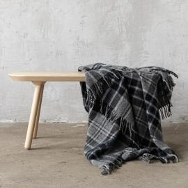 Manta de lana a cuadros Gray Adriano