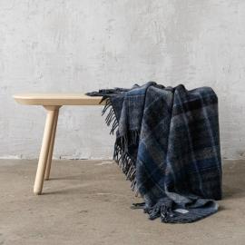 Manta de lana a cuadros Blue Adriano