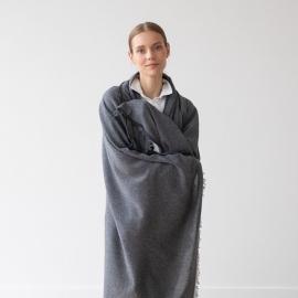 Grey Chal de Cachemira Lana Merino Salvatore