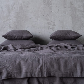 Gris Conjunto de Cama de Lino Stone Washed