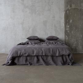 Grey Conjunto de Cama de Lino Stone Washed