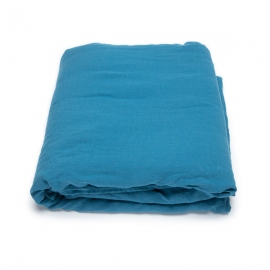 Sea Blue Edredon de Lino Stone Washed