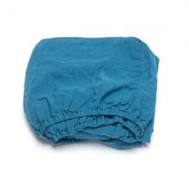 Sea Blue Sábana Encimera de Lino Stone Washed