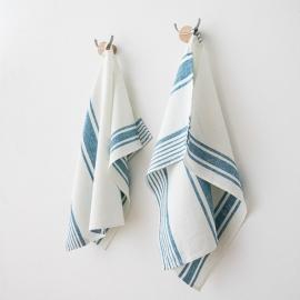Mano Toallas de Lino Marine Blue Tuscany