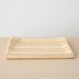 Toalla de Baño de Lino Gold Multistripe