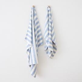 Toalla de Playa fabricada en Lino, Azul Philippe