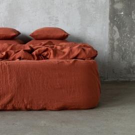 Brick Sábana Encimera de Lino Stone Washed